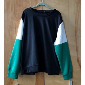 Tops - Plus Contrast Panel Sweatshirt